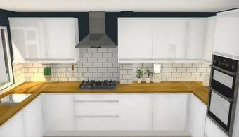 Kitchen Design - 3D Render