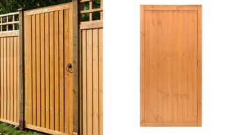 Closeboard Tall Gate - Garden Gates