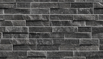 Rock Stack Wall Cladding - Black