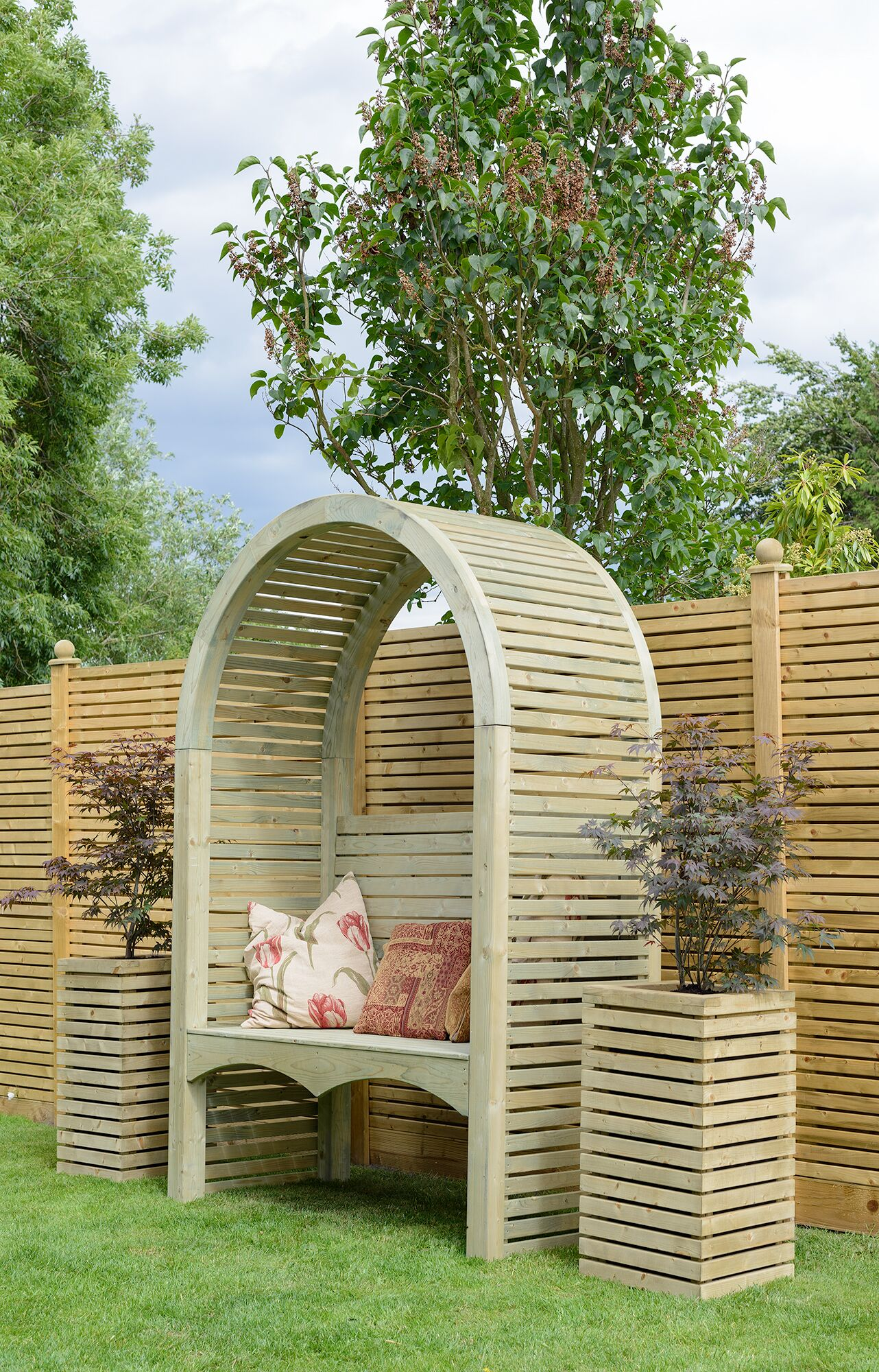 Contemporary Wooden Arbour