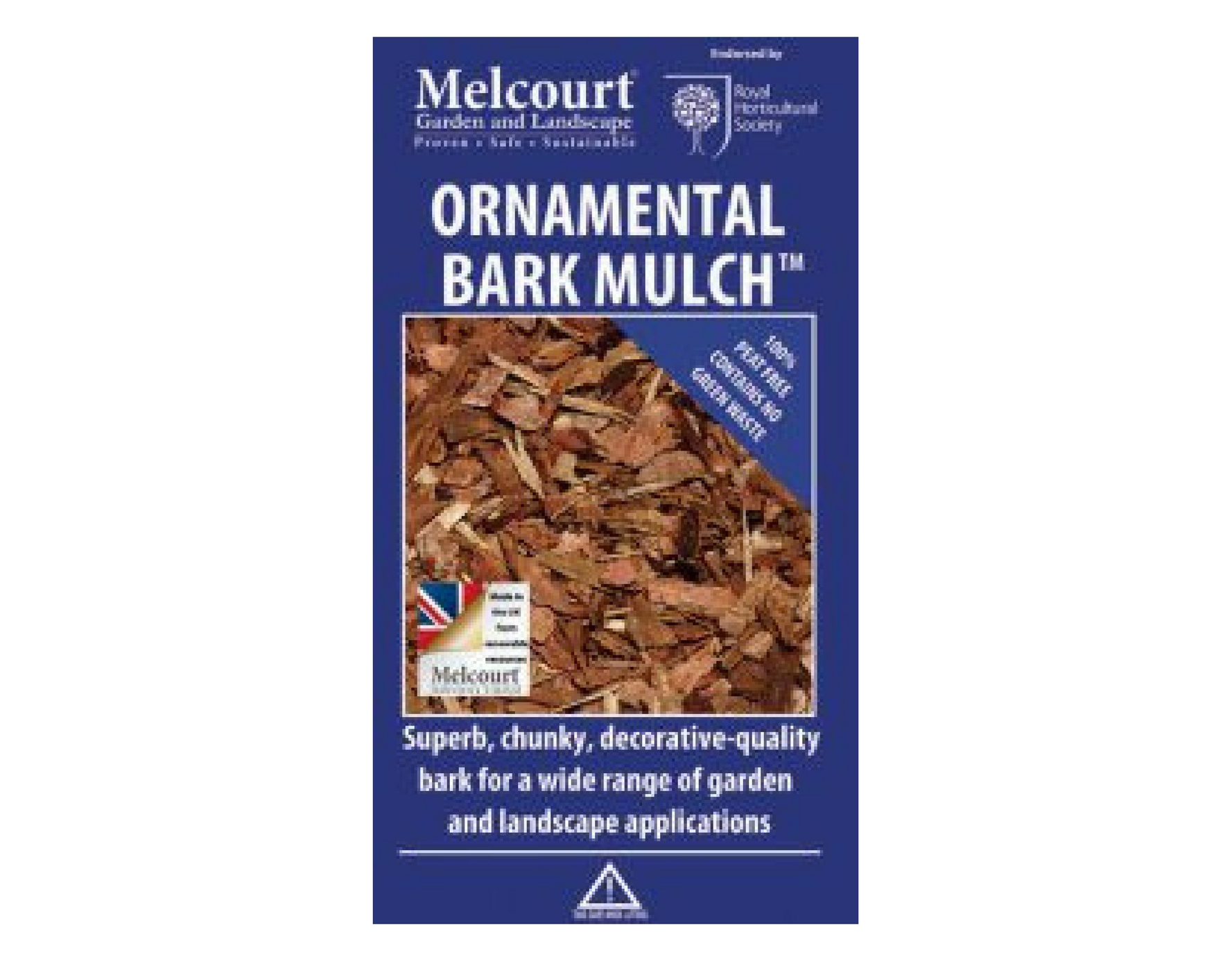 Ornamental Bark Mulch - 60 litre bag